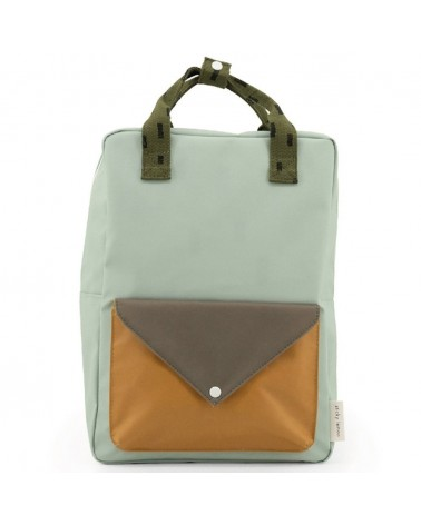 SAC À DOS - STICKY LEMON - GRAND - SPRINKLES - SAGE GREEN+MOSS GREEN+PANACHE GOLD