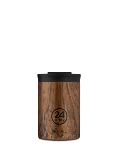 MUG ISOTHERME 350 ML - 24BOTTLES - TRAVEL TUMBLER - SEQUOIA WOOD