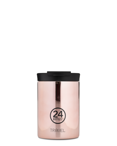 MUG ISOTHERME 350 ML - 24BOTTLES - TRAVEL TUMBLER - ROSE GOLD