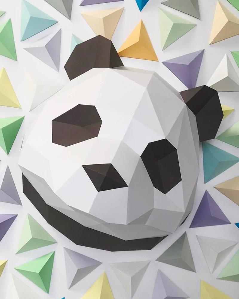Trophée en papier ORIGAMI - DIY - PANDA -  L'interprète Concept Store