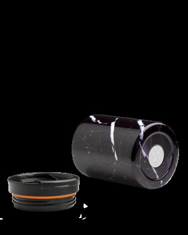 MUG ISOTHERME 350 ML - 24BOTTLES - TRAVEL TUMBLER - BLACK MARBLE