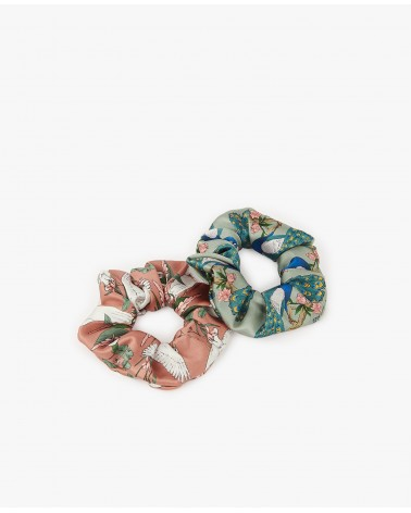CHOUCHOU - WOUF - SCRUNCHIES ROYAL FOREST + SUNSET LAGOON