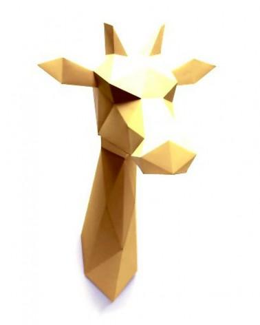 Trophée en papier ORIGAMI - DIY - GIRAFE - L'interprète Concept Store