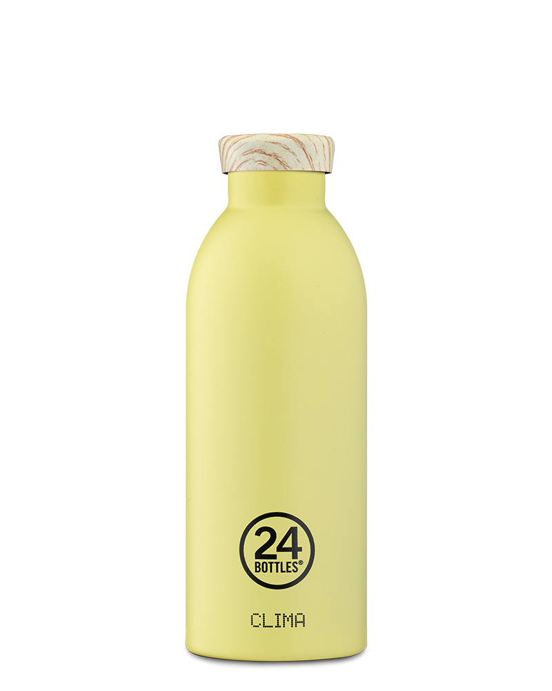 THERMOS 500 ML - 24BOTTLES - CLIMA BOTTLE CITRUS - BOUCHON BOIS