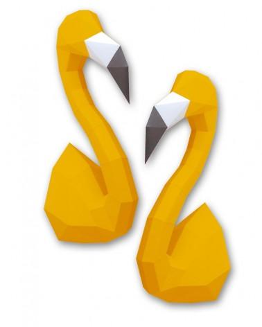 Trophée en papier ORIGAMI - DIY - FLAMAND ROSE - L'interprète Concept Store