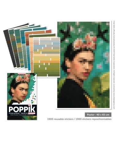 TABLEAU EN STICKERS - POPPICK - FRIDA KAHLO
