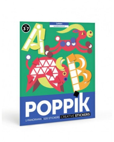 MES STICKERS EN PUZZLE - POPPIK - ABC (LES LETTRES)