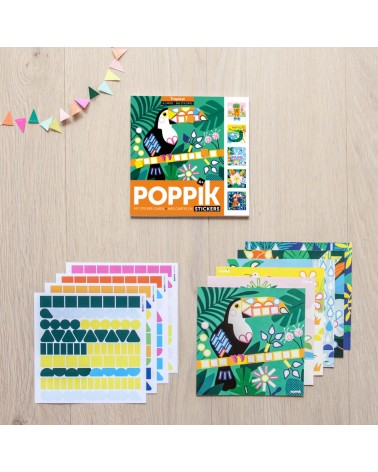 MES CARTES EN STICKERS - POPPIK - TROPICAL
