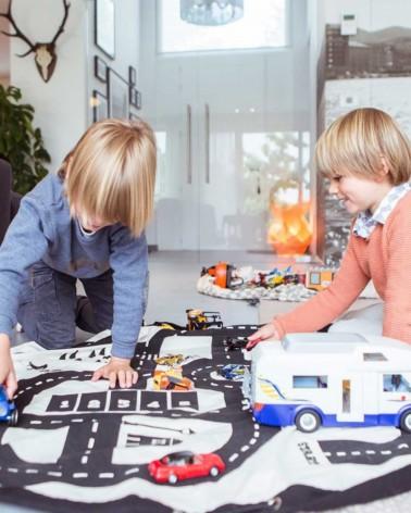 Sac rangement jouets - Tapis de jeu - AUTOROUTE/ECLAIRS - Play & Go - L'interprète Concept Store