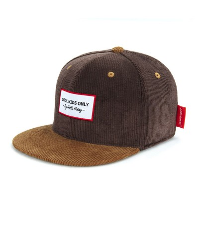 CASQUETTE - HELLO HOSSY - VELOURS - SWEET BROWNIE
