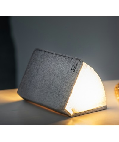 LAMPE LIVRE - GINGKO - MINI SMART BOOK LIGHT - TISSU GRIS