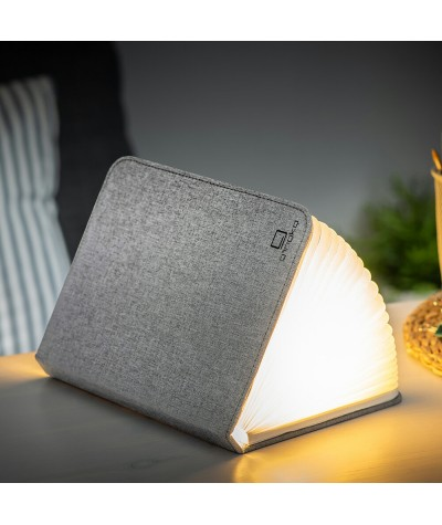 LAMPE LIVRE - GINGKO - GRAND SMART BOOK LIGHT - TISSU GRIS