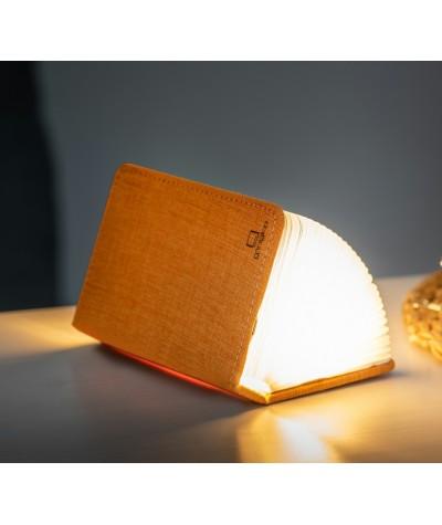 LAMPE LIVRE - GINGKO - MINI SMART BOOK LIGHT - TISSU ORANGE