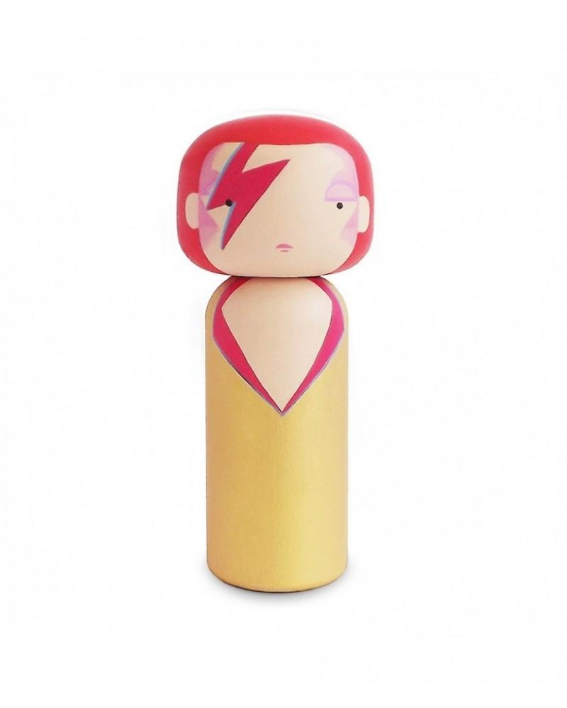 Poupée Kokeshi décorative en bois  dédiée à Ziggy de Lucie Kaas - L'interprète Concept Store