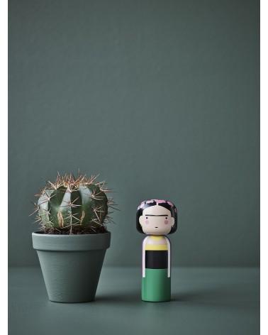 Poupée décorative en bois Kokeshi dédiée à Frida Kahlo par Lucie Kaas - L'interprète Concept Store
