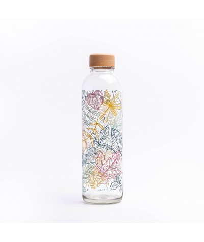 BOUTEILLE VERRE 70 CL - CARRY - FALLING LEAVES