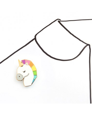 SKETCH INC - Broche LICORNE Arc-en-Ciel - Accessoires Femmes - L'interprète Concept Store