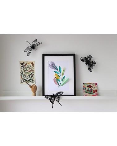 Puzzle DIY Insectes - Kit papillons et libellule - 3D Trio Black Mesh - L'interprète Concept Store
