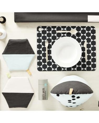 Lot de 2 Sets de Table Hexagon - Dark - Grey - OYOY - L'interprète Concept Store