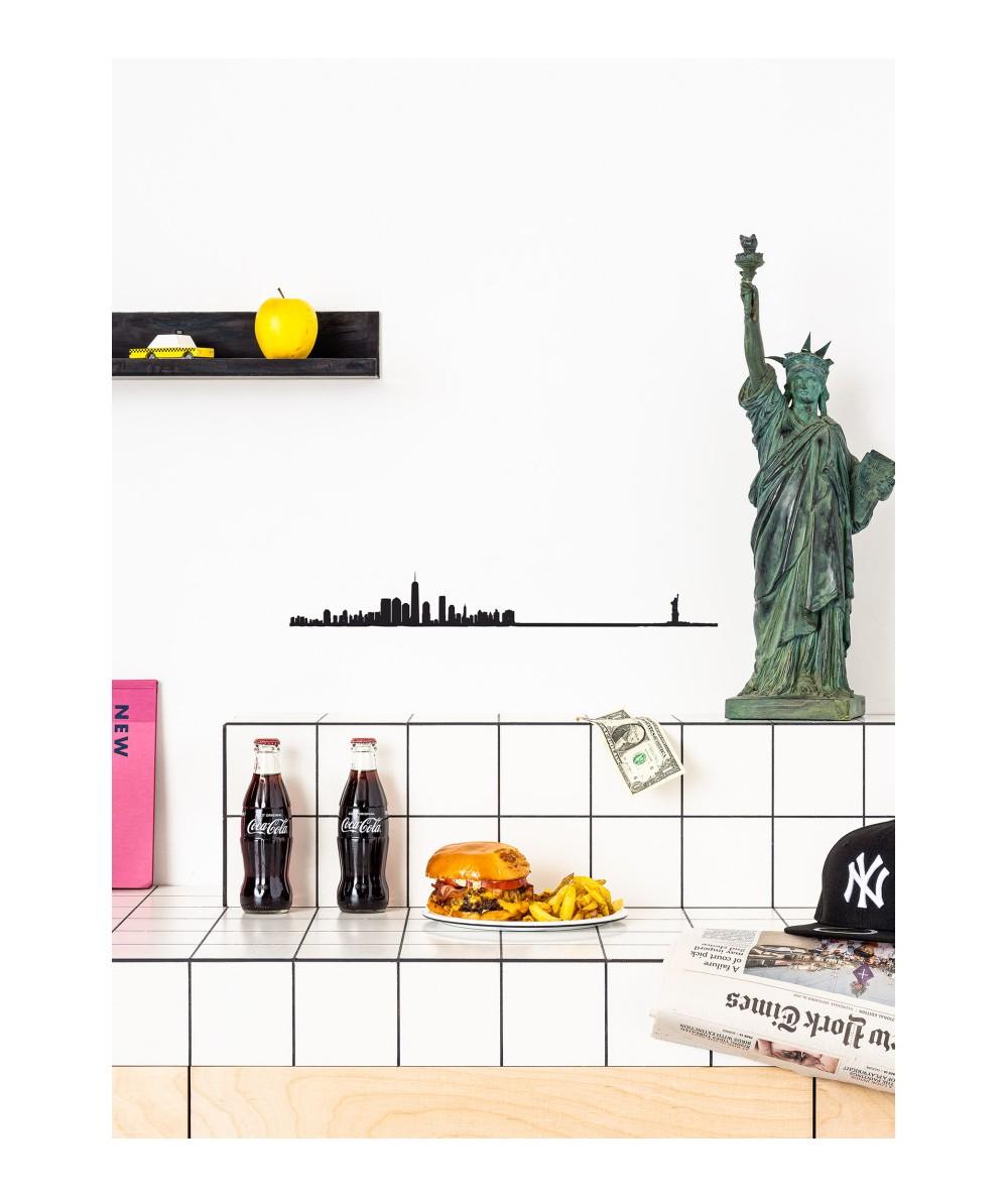 THELINE New York - Silhouette murale noire de New York - Made in France - L'interprète Concept Store