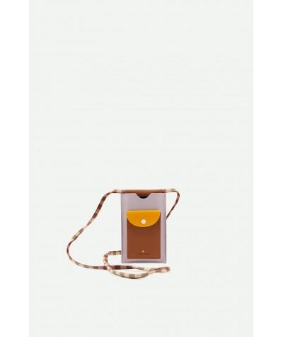 POCHETTE TELEPHONE - STICKY LEMON - GINGHAM CHOCOLATE SUNDAE + DAISY YELLOW + MAUVE LILAC