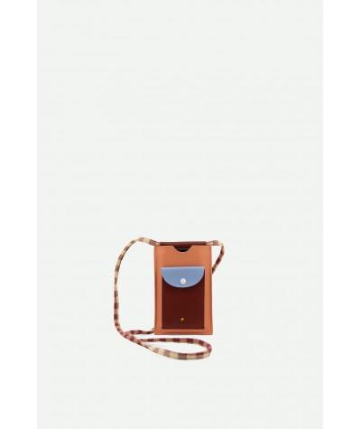 POCHETTE TELEPHONE - STICKY LEMON - GINGHAM CHERRY RED + SUNNY BLUE + BERRY SWIRL
