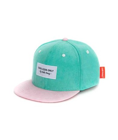 CASQUETTE - HELLO HOSSY - SUEDE - GREEN BLUE