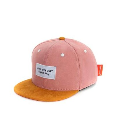 CASQUETTE - HELLO HOSSY - SUEDE - OLD PINK