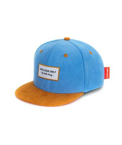 CASQUETTE - HELLO HOSSY - SUEDE - COOL BLUE