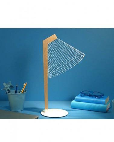 Lampe Innovante LED en Bois en 2D BY BULBING DESKI - STUDIO CHEHA - L'interprète Concept Store