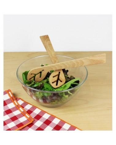 Couverts à salade en bois - Du bout des Feuilles - Reine Mère - L'interprète Concept Store