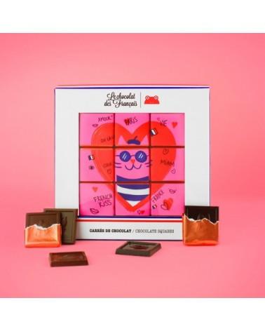 Coffret 9 carrés de chocolat - Le Chocolat des Français - L'interprète Concept Store