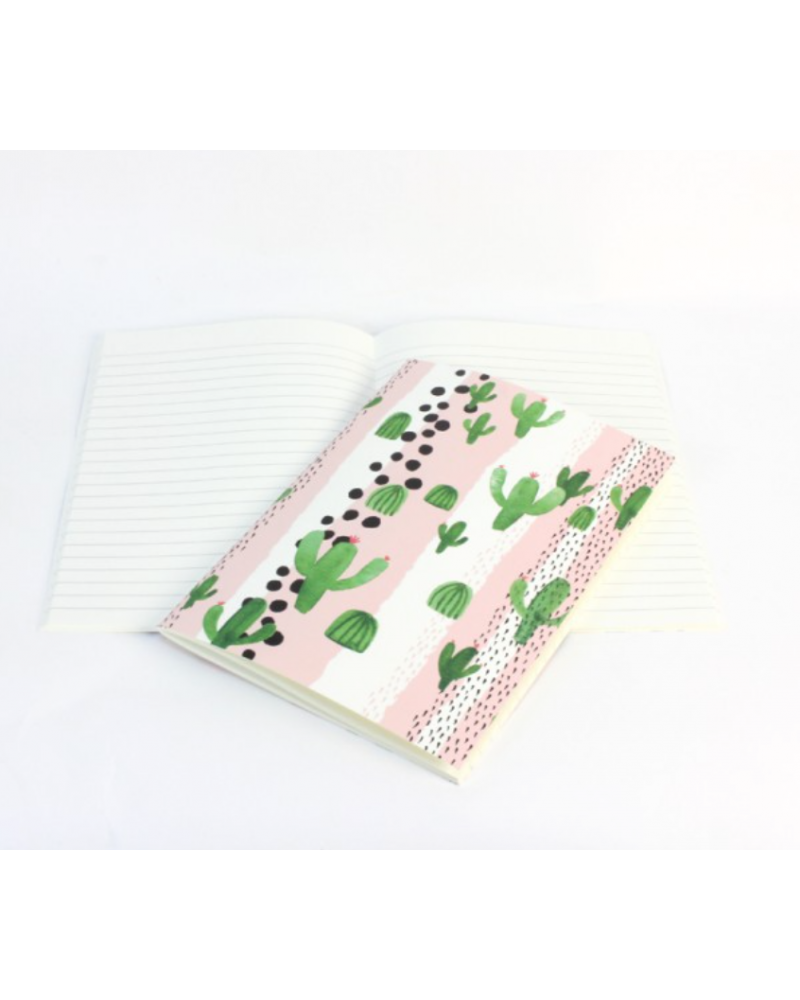 Cahier ligné Reine Mère motif Cactus - Girl Gang - Made in France  - L'interprète Concept Store