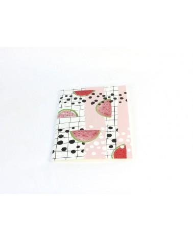 Cahier ligné motif pastèque signé Reine Mère - Girl Gang - L'interprète Concept Store