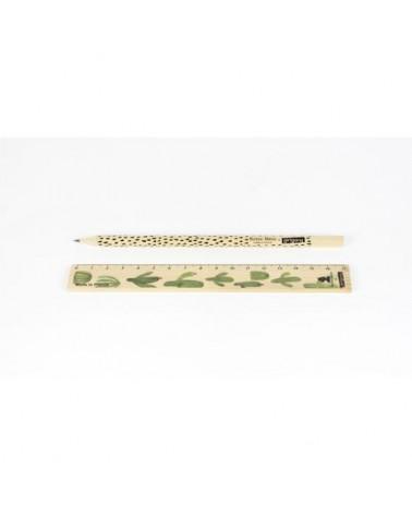 Règle & Crayon en bois Français - CACTUS - Reine-Mère - L'interprète Concept Store