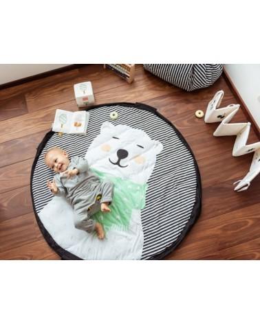 Sac rangement jouets - Tapis d'éveil 3 en 1 - POLAR BEAR - Play & Go - L'interprète Concept Store