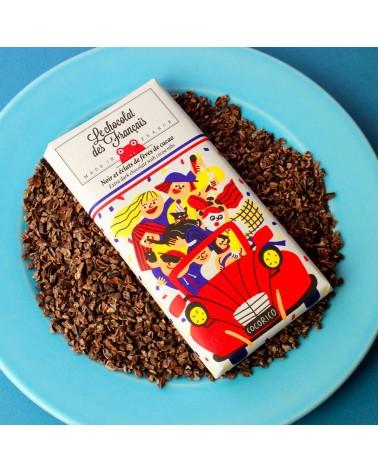Tablette 71% noir & éclats de fèves de cacao - Le Chocolat des Français - L'interprète Concept Store