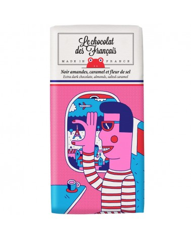 Tablette Noir, amandes et caramel BIO - Le Chocolat des Français - L'interprète Concept Store