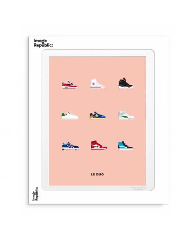 Affiche LE DUO 30x40 - SNEAKERS - Image Republic - L'interprète Concept Store