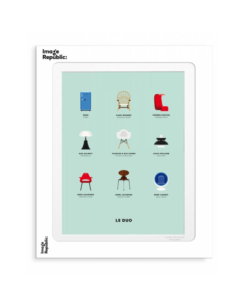 Affiche Design signée Le Duo Design pour Image Républic - L'interprète Concept Store