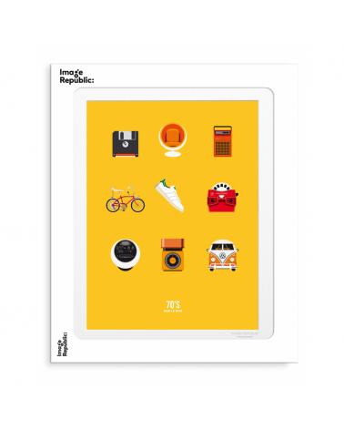 Illustration 70,s signée Le Duo pour Image Republic - L'interprète Concept Store