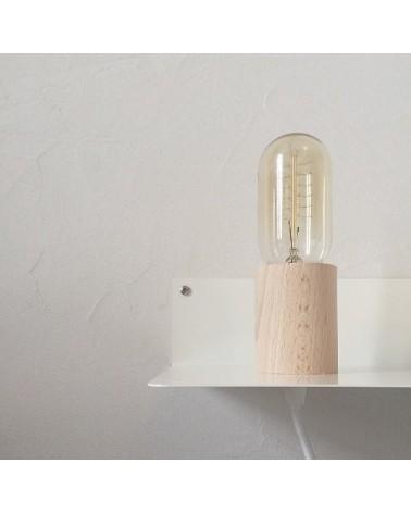 Etagère - Table de Chevet lumineuse en métal blanc - An°so - L'interprète Concept Store