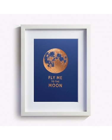 Affiche Fly me to the moon signée Les Editions du Paon - L'interprète Concept Store