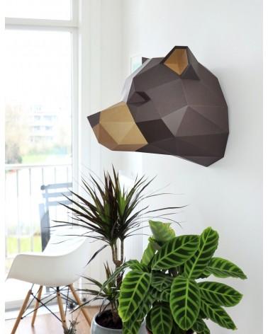Trophée en papier ORIGAMI - DIY - GRIZZLY -  L'interprète Concept Store