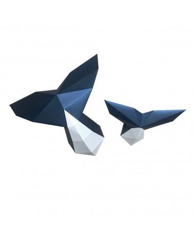 Trophée en papier Origami DIY - Queue de Baleine - L'interprète Concept Store
