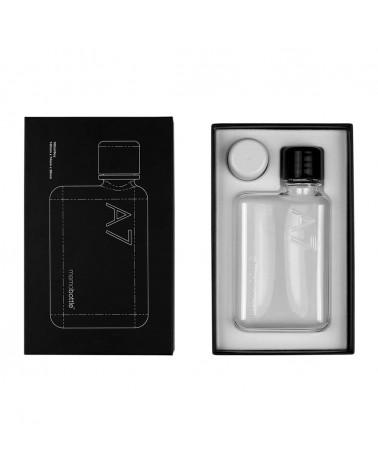 Bouteille transparente slim réutilisable - MEMOBOTTLE A7 - L'interprète Concept Store