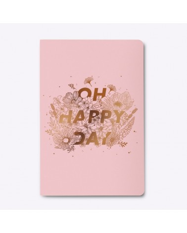 Carnet Oh Happy Day signée Les Éditions du Paon - L'interprète Concept Store