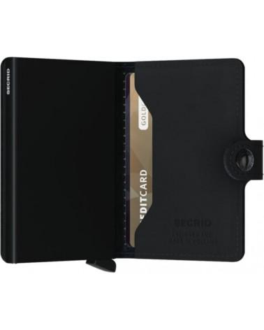 Portefeuille Miniwallet Secrid - Ultra compact - Perforated black - L'interprète Concept Store