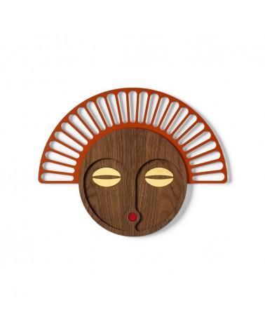 Masque africain revisité Umasqu - Décoration murale, artisanale - Tzachi Nevo - L'interprète Concept Store