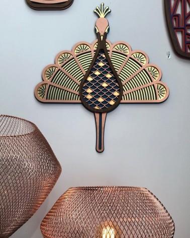 Masque décoratif - Décoration murale Paon - Umasqu - The Peacock - - L'interprète Concept Store